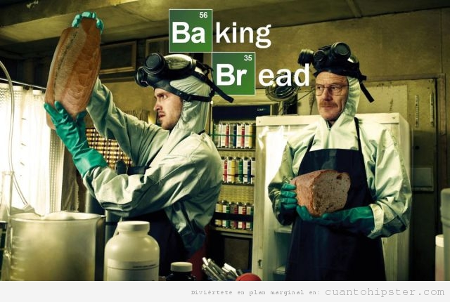 Parodia del cartel Breaking Bad, Baking Bread