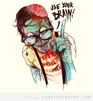 Hipster zombie Use your Brain
