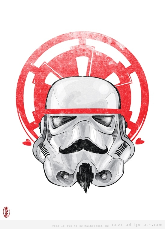 Ilustracin de Darth Vader con bigote hipster