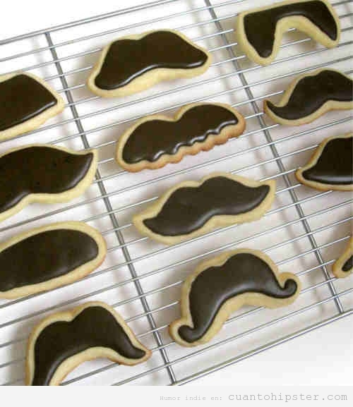 Galletas con forma de bigotes