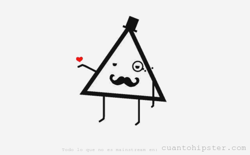 Dibujo de un triángulo, míster Hipster