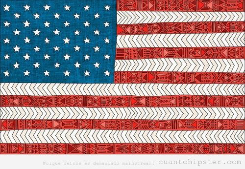 Bandera de USA estilo hipster