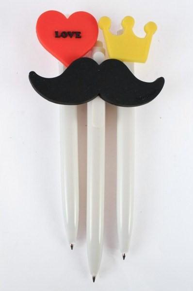bolígrafos-bigote-corona-y-corazón