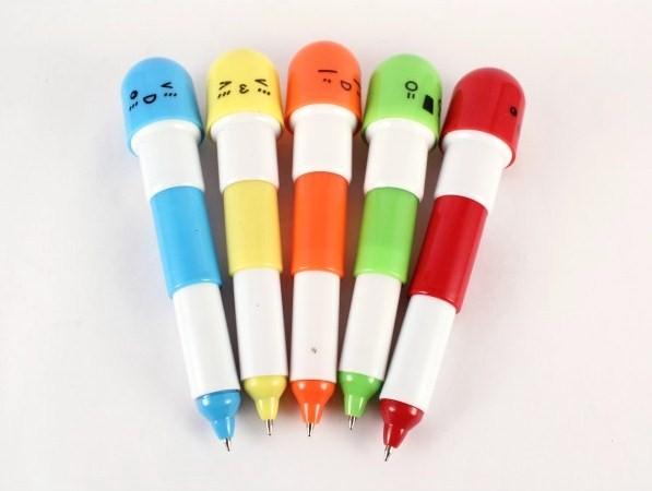 bolígrafos-con-foma-de-pastilla