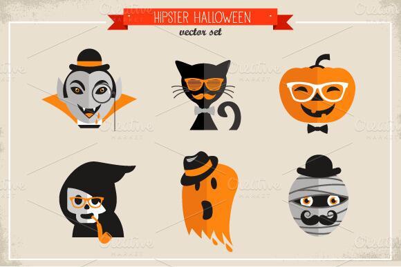Dibujos hipster Halloween