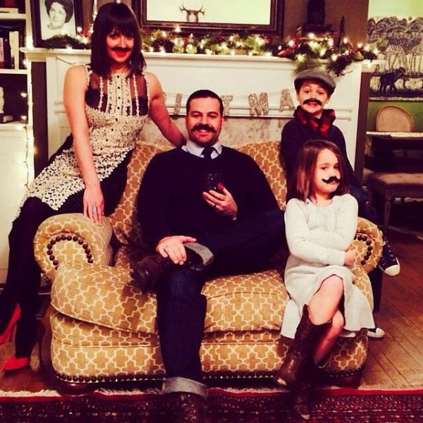 Felicitación de Navidad de Moustache Family