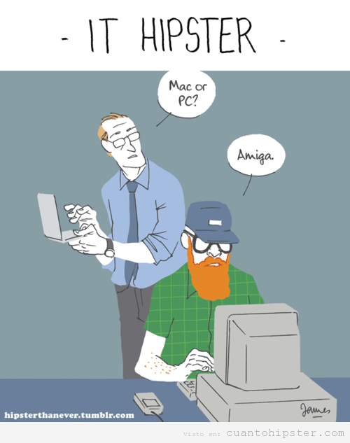 Humor gráfico, IT hipster