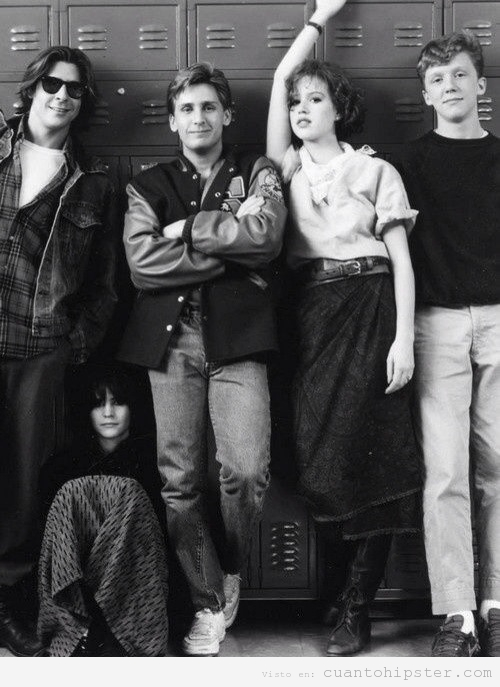 Foto de rodaje de Breakfast Club