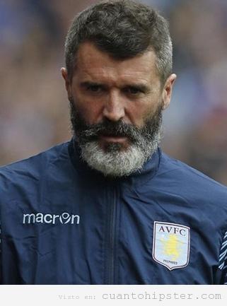 El entrenador irlandés Roy Keane con barba hipster