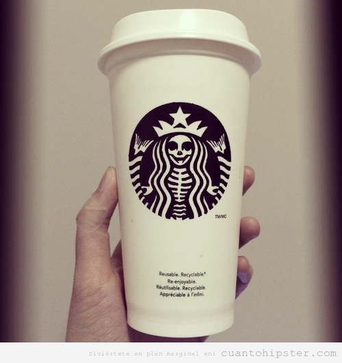Sirena Starbucks en esqueleto, Halloween