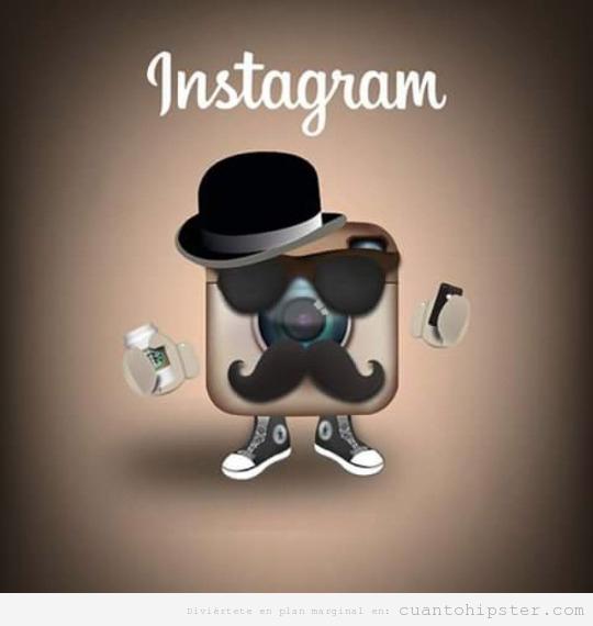 Nuevo logo de Instagram con look hipster