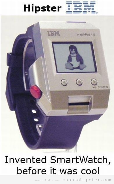 Smartwatch antiguo IBM watchpad