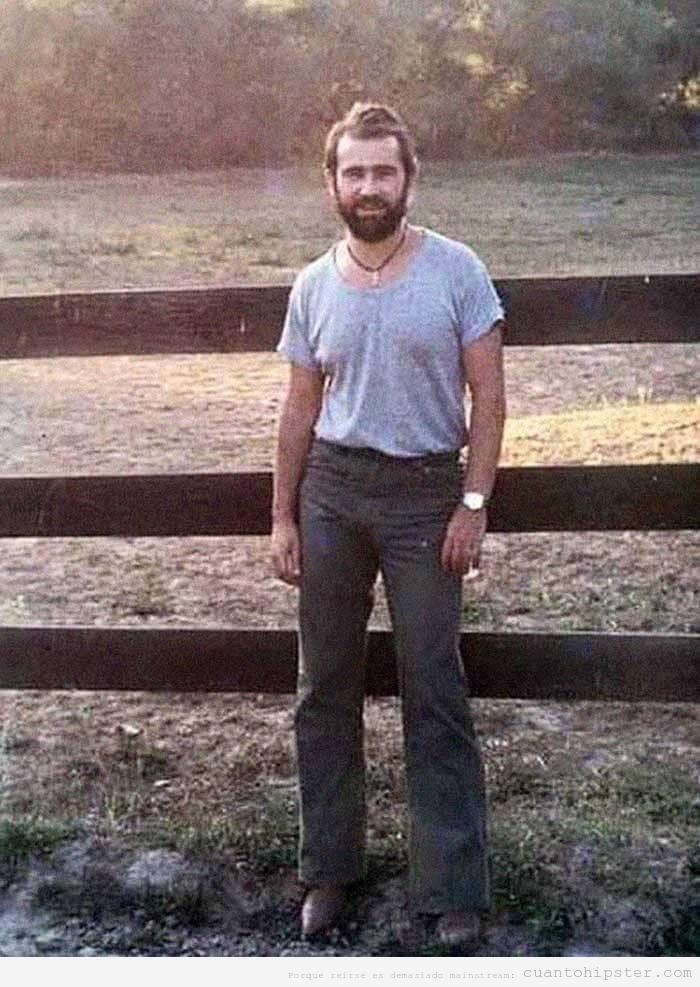 Foto de Rodrigo Rato de joven en los años 70 con look hipster