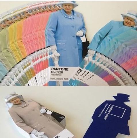 Pantonera o carta de color de la reina madre de Inglaterra