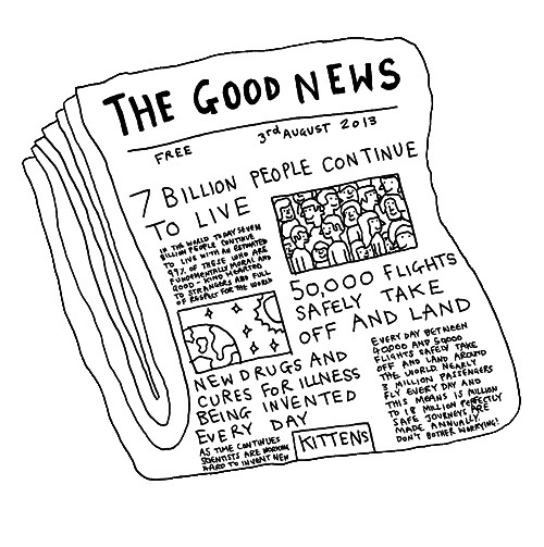 Ilustración periódico The Good News