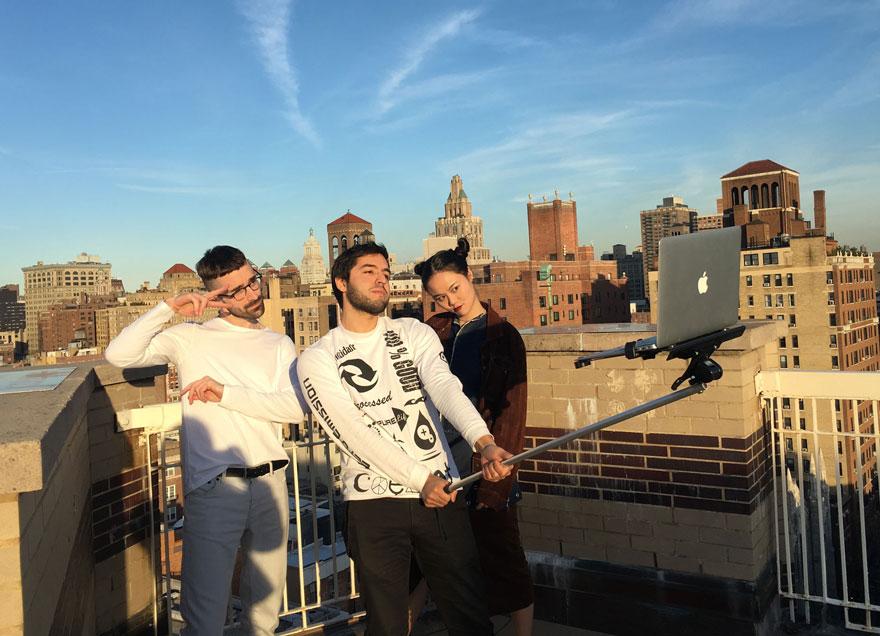 Performance artistas, palo de selfie para ordenadores macbooks