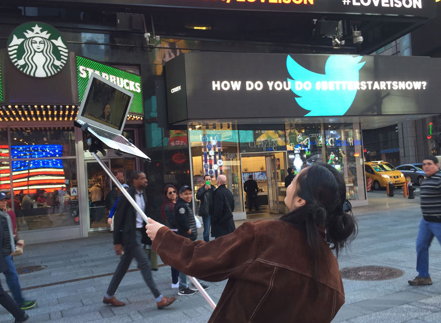Performance artistas, palo de selfie para ordenadores macbooks 2
