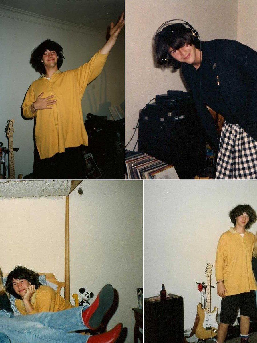 Fotos curiosas Keanu Reeves de joven en una fiesta