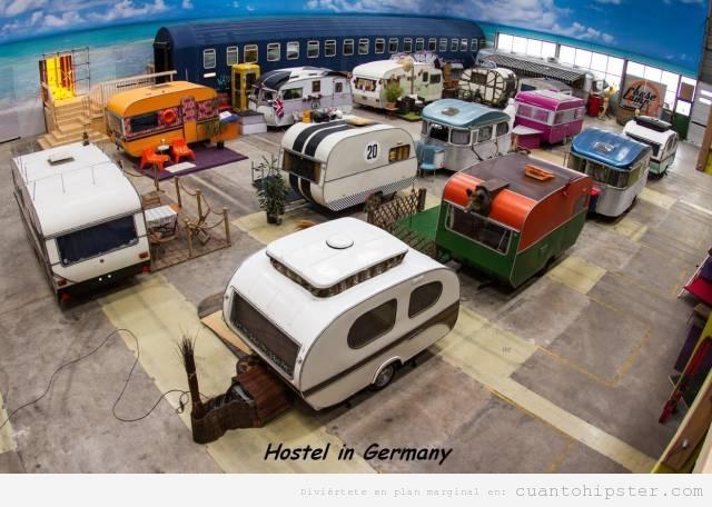 Hostal hipster en Alemania lleno de caravanas vintage