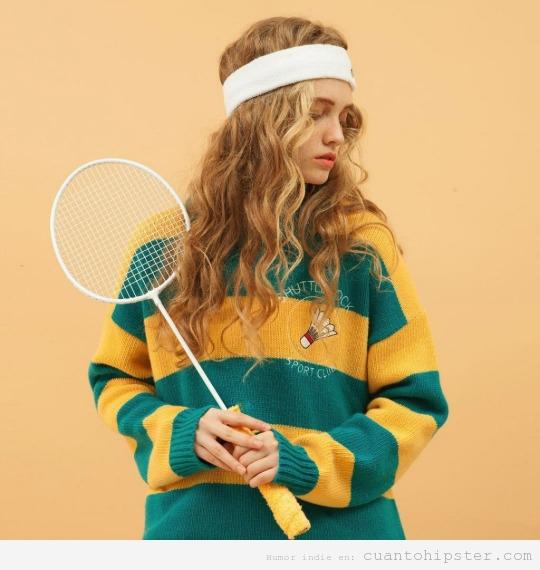 Ropa deporte estilo hipster jersey tenis