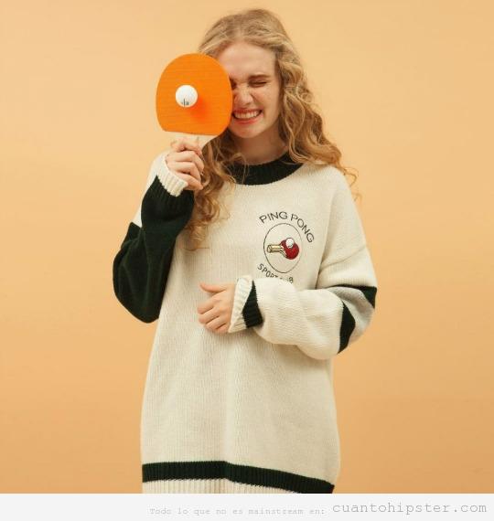 Ropa deporte estilo hipster jersey ping pong