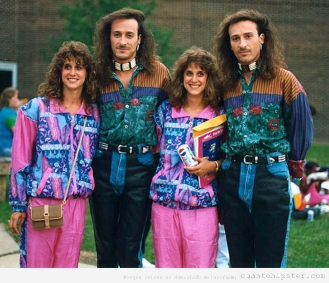 Fotos antiguas años 80, pareja de gemelos