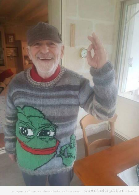Abuelo hipster jersey tortugas ninja OK