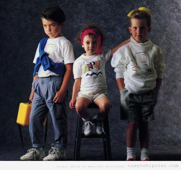Colección ropa niños marca Apple 1986