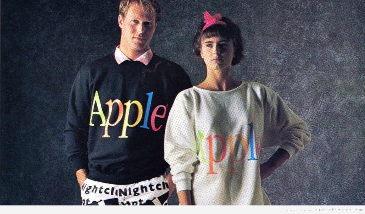 2 Colección ropa marca Apple 1986
