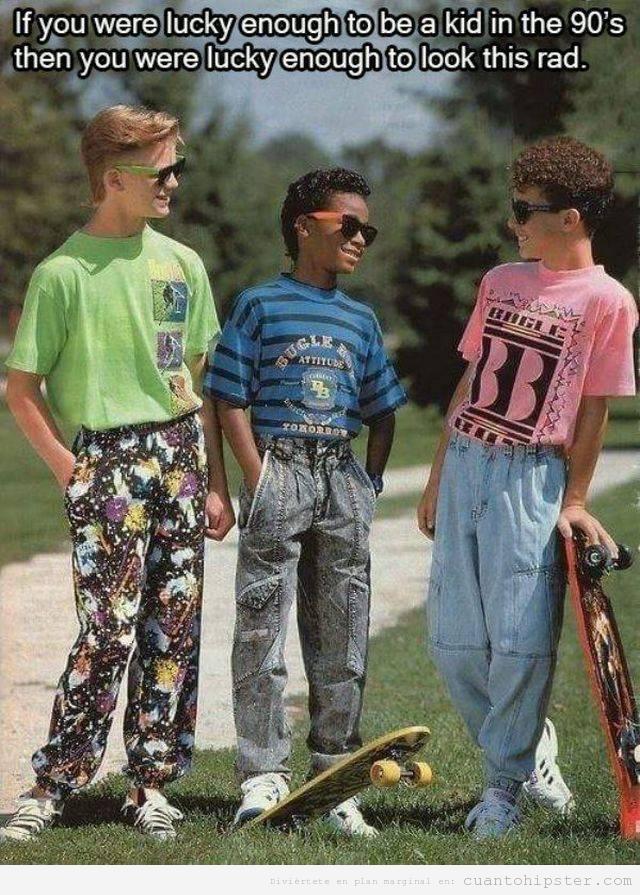 Foto gracioso niños con look hispter en los años 90