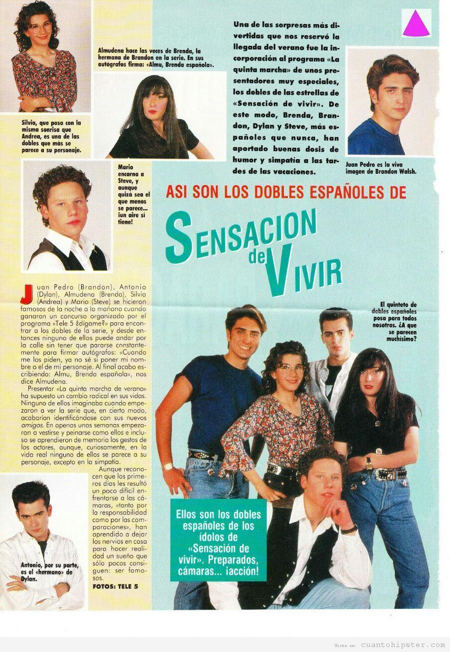 Dobles españoles de los actores de Sensación de vivir