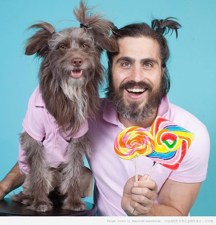 Foto hipster parecido a su perro 4