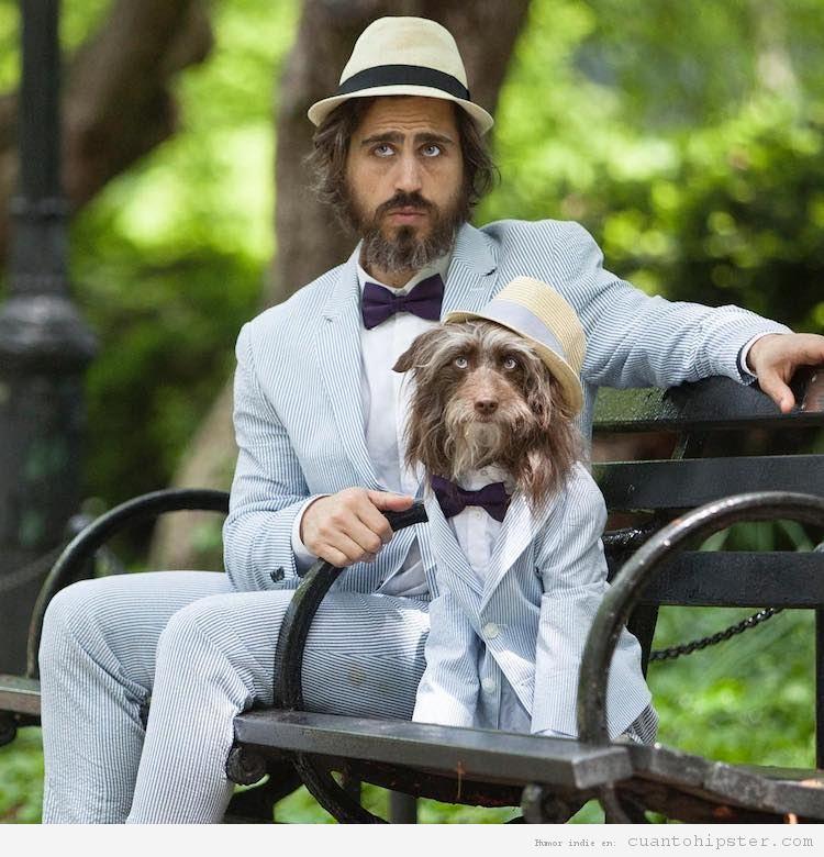 Foto hipster parecido a su perro 5