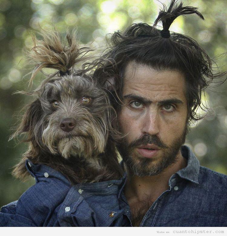 Foto hipster parecido a su perro 9