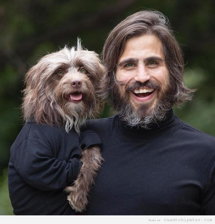Foto hipster parecido a su perro 10