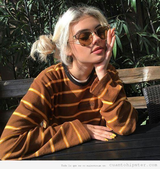 Pelo rubia ceniza mujer hipster 9