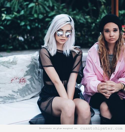 Pelo rubia ceniza mujer hipster 5