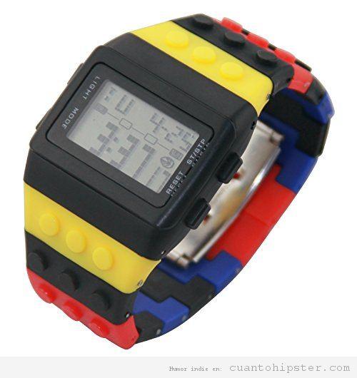 Reloj hipster Lego