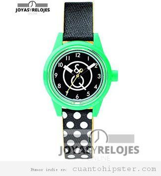 Reloj hipster lunares