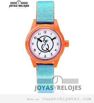 Reloj hipster de colores