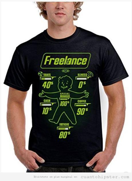 Camiseta friki Freelance
