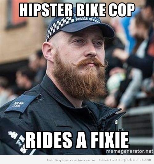 Policía hipster