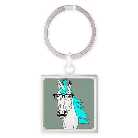 Llavero hipster unicornio