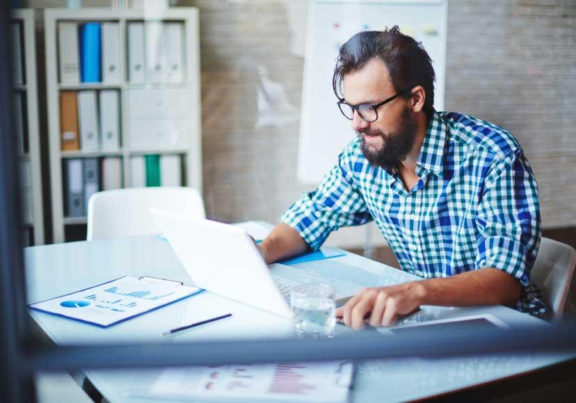 Profesión hipster ordenador