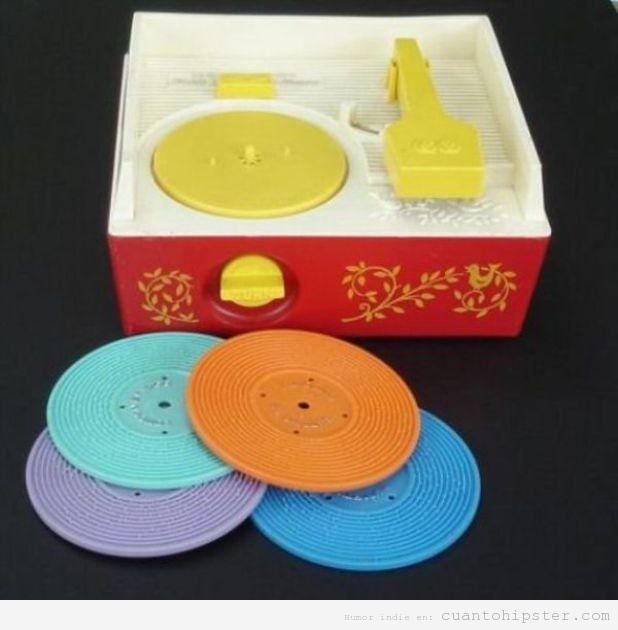 Juego para niños hipsters, discos de vinilo de juguete