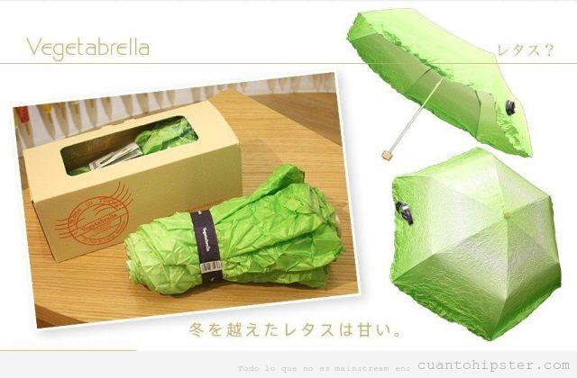Vegetabrella paraguas con forma lechuga