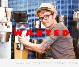 Se busca barista Hipster