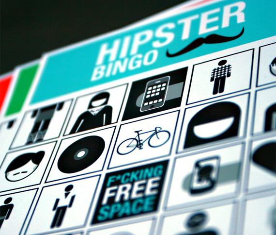 Cartón de bingo hipster