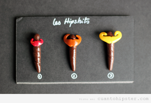 Cacas hipsters con moustache, les hipshits