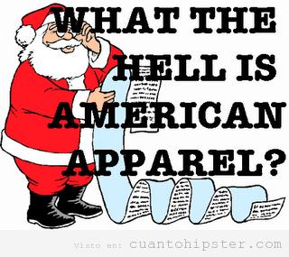 Santa Claus lee una carta de una hipster y no sabe lo que es American Apparel